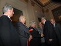 Saludo de Ministro Rosadilla a ex Presidentes de la República
