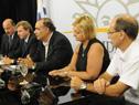 Ministro de Turismo y Deporte, Héctor Lescano, haciendo uso de la palabra.