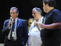 Secretario General del BROU, Roberto Borreli dirigiéndose al público presente