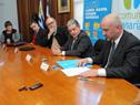 Firma de convenio entre la Intendencia de Canelones y la Administración Nacional de Correos