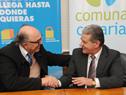 El Intendente de Canelones, Marcos Carámbula, y el presidente de El Correo, José Luis Juárez.