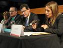 La representante de los fiscales adscriptos, Silvana Rivas, hace uso de la palabra.