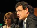 El fiscal de Corte, Jorge Díaz, hace uso de la palabra.