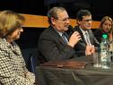 El ministro de Educación y Cultura, Ricardo Ehrlich, hace uso de la palabra.