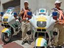 Policía Caminera y Guardia Republicana recibieron motocicletas donadas por España