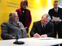 Firma de acuerdo de voluntades entre MEC e Intendencia de Canelones
