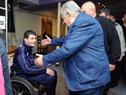 Presidente José Mujica saludando