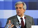 Presidente Tabaré Vázquez dirigiéndose al público