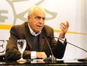 Ministro de Transporte y Obras Públicas, Víctor Rossi luego del Consejo de Ministros de hoy