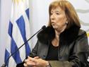 Ministra María Julia Muñoz en conferencia de prensa
