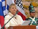 Ministra Liliam Kechichian, haciendo uso de la palabra