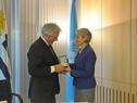 Encuentro del Presidente de la República, Tabaré Vázquez, con la directora general de la Unesco, Irina Bokova