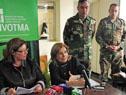 Ministra Eneida de León encabeza la conferencia de prensa en Dolores sobre el plan de obras para la ciudad