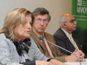 Ministra Eneida de León realizando su intervención