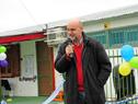 Vicepresidente del INAU, Fernando Rodríguez, dirgiéndose a los presentes
