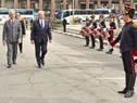 Ambos presidentes pasan revista al cuerpo de Blandengues de Artigas