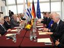 Reunión ampliada realizada entre los presidentes Tabaré Vázquez y Joachim Gauck