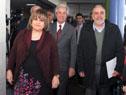 Tabaré Vázquez junto a Irupé Buzzetti y Wilson Netto