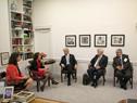 Presidente Tabaré Vázquez, junto a ministro Danilo Astori, reunidos con Susan Segal, presidenta del Council of the Americas