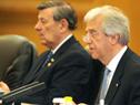 Presidentes de Uruguay, Tabaré Vázquez hace uso de la palabra junto al canciller Nin Novoa