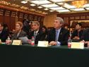 Autoridades uruguayas en el Seminario y Ronda Empresarial de CCPIT