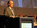 Gonzalo Casaravilla, presidente de UTE, haciendo uso de la palabra