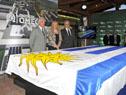 Presidente Vazquez previo al descubrimiento de la maqueta del proyecto