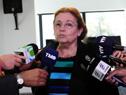 Subsecretaria de Educación y Cultura, Edith Moraes en declaraciones a la prensa