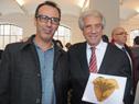 Presidente Vázquez dirigiendo la palabra a uruguayos residentes en Austria
