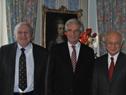 Tabaré Vázquez junto a director general de la OIEA, Yukiya Amano
