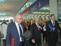 Presidente Vázquez una vez finalizada la conferencia de prensa