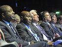 Presidente Tabaré Vázquez, entre los asistentes escucha a los diferentes oradores