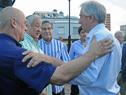 Presidente Vázquez saluda a Enrique Espert, presidente de DAECPU