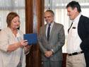 Ministra de Turismo, Liliam Kechichian, y el subsecretario de Relaciones Exteriores, junto a Carlos Caballero