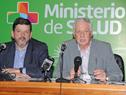 Ministro de Salud Pública, Jorge Basso, junto a presidente de la Junasa, Arturo Echevarría