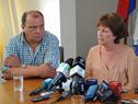 Rodríguez y Lindner durante la conferencia de prensa