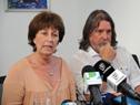Lindner y Purstcher durante la conferencia de prensa