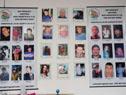 Fotos de las víctimas de la delincuencia en el interior de la sede