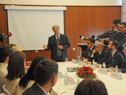 Presidente Tabaré Vázquez con empresarios y uruguayos residentes en Rusia