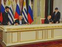 Firma de acuerdos bilaterales por parte de ambos presidentes