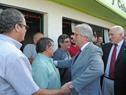 Presidente Vázquez y equipo de Gobierno en Juan Lacaze, Colonia