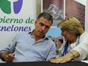 Ministra Eneida de León con intendente de Canelones, Yamandú Orsi