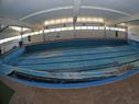 Piscina climatizada cerrada de la plaza de deportes de Canelones, que recibirá un reacondicionamiento en su interior