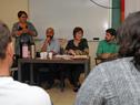 Ministra Marina Arismendi, junto a su equipo de trabajo, durante las audiencias ofrecidas en Canelones