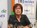 Ministra Marina Arismendi haciendo uso de la palabra