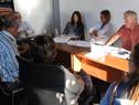 Ministra de Turismo. Liliam Kechichian, junto a su equipo de trabajo, recibió a ciudadanos canarios