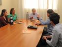Ministro Danilo Astori durante algunas de las reuniones en Canelones