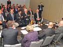 Empresarios y técnicos alemanes y suizos en Montevideo presenciaron la firma de memorándum