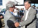 Intendente de Canelones, Yamandú Orsi, recibe al Presidente Tabaré Vázquez