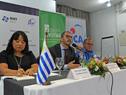 Prosecretario de Presidencia de la República, Juan Andrés Roballo, dirigiéndose a los presentes